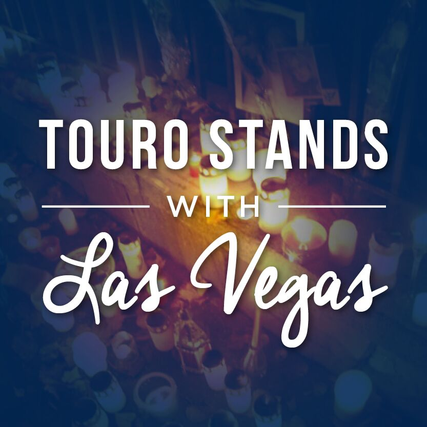 Touro stands with Las Vegas
