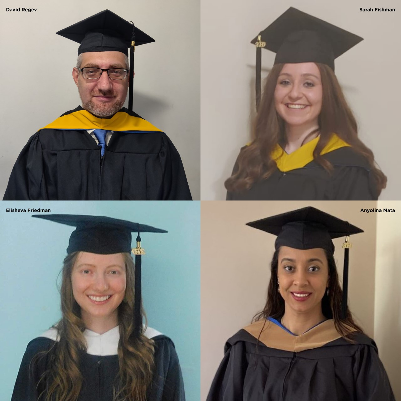 Valedictorians at Division of Graduate Studies Commencement 2020