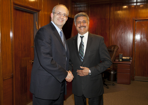Dr. Alan Kadish, President and CEO of the Touro College and University System and Dr. Ram Raju, President of the New York City Health and Hospitals Corporation.